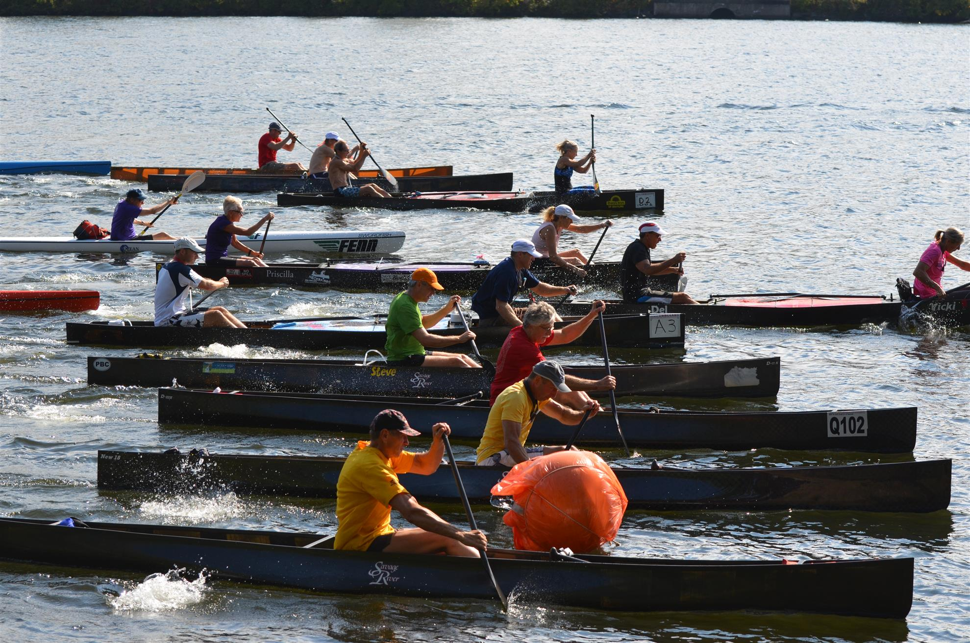 start of the 2014 Paddle Battle