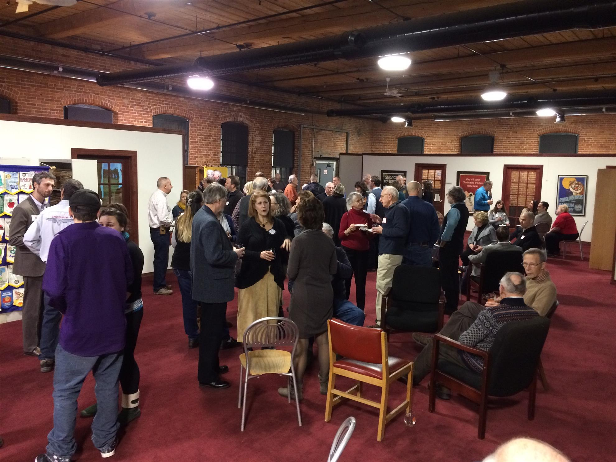 Members and guests gather together for Get to Know Rotary Night