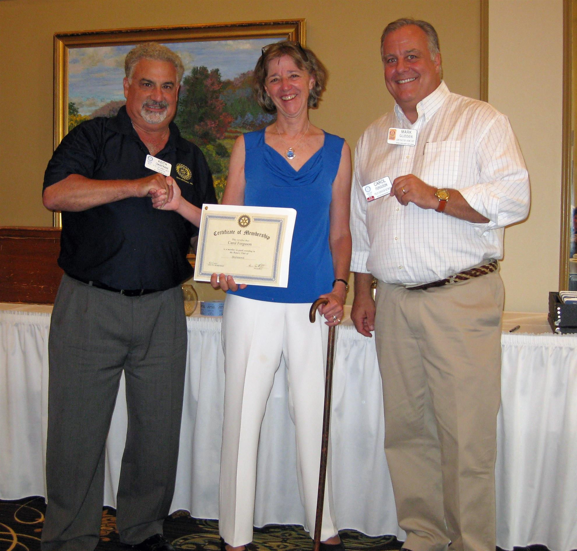 Keith Cianfrani, Carol Ferguson, and Mark Glidden