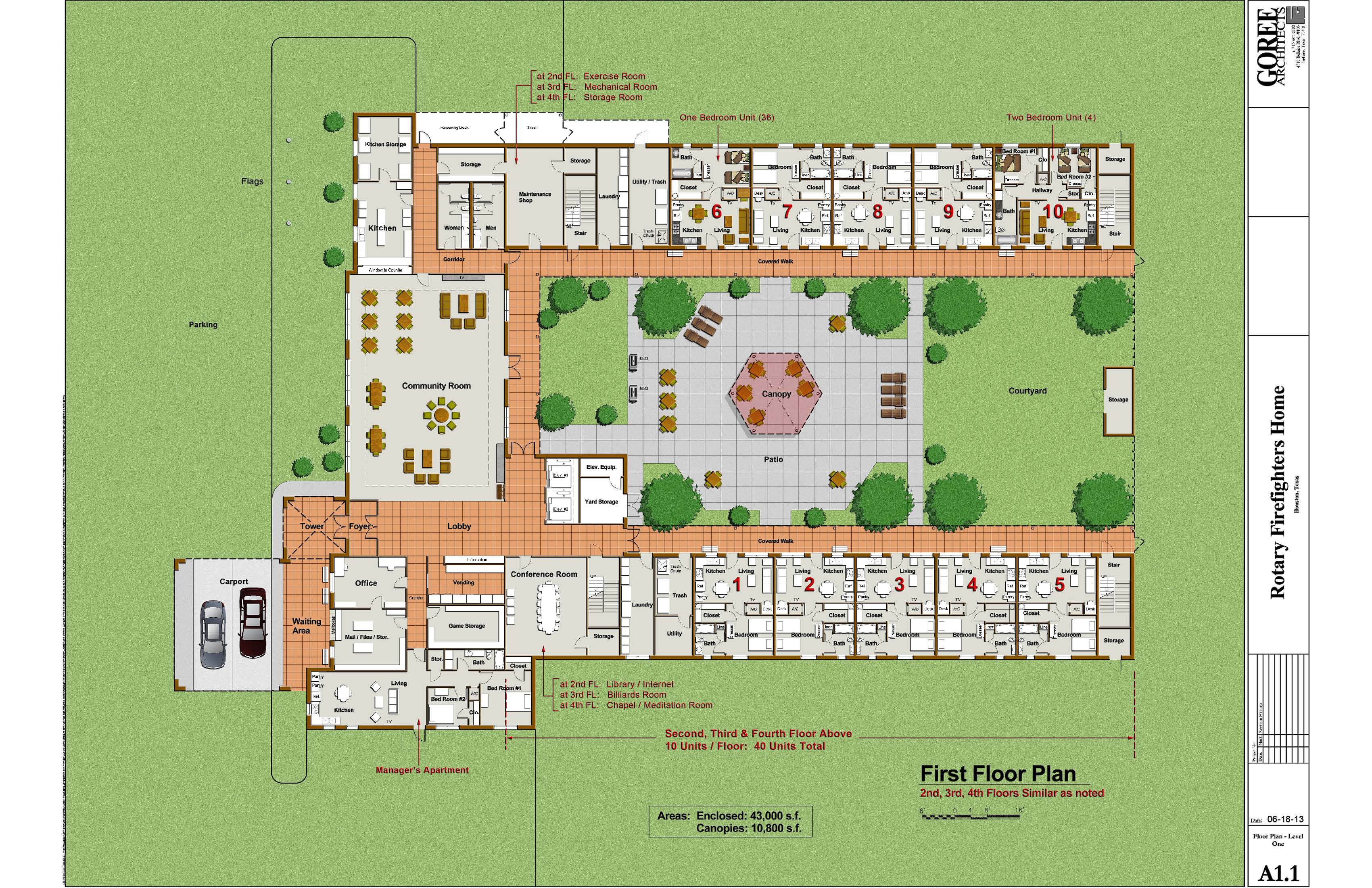 Home page rotary club of university area houston Rest house plan
