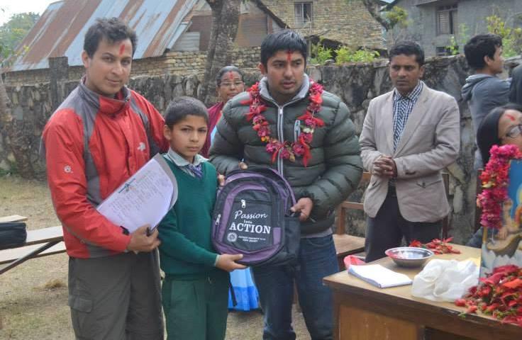 School Bag distribution in Nepal