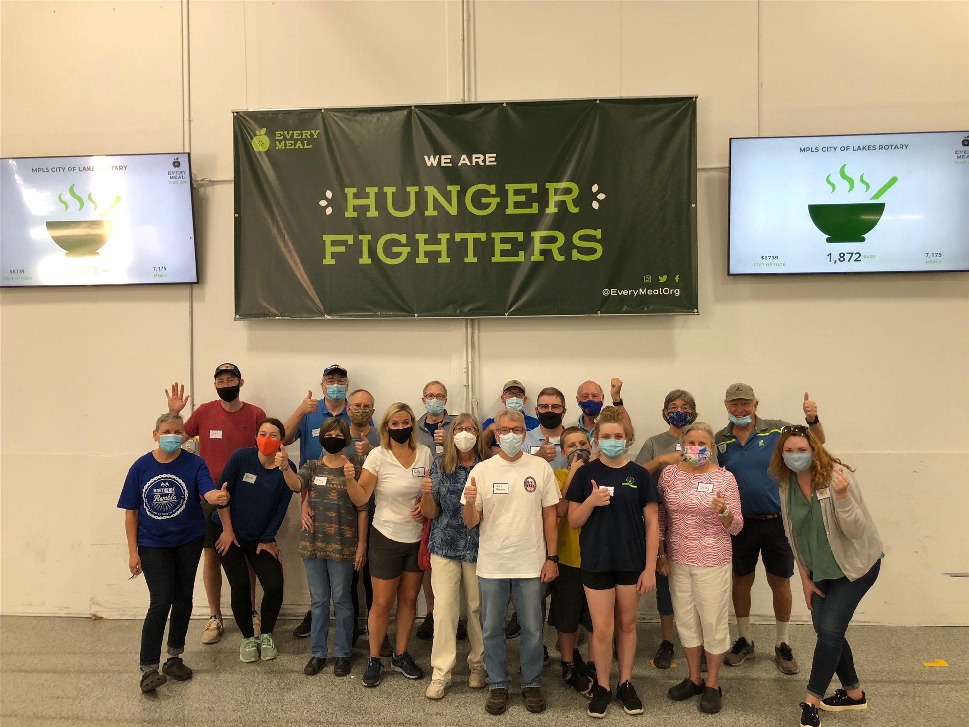 COL Rotarians help pack food for kids at Every Meal