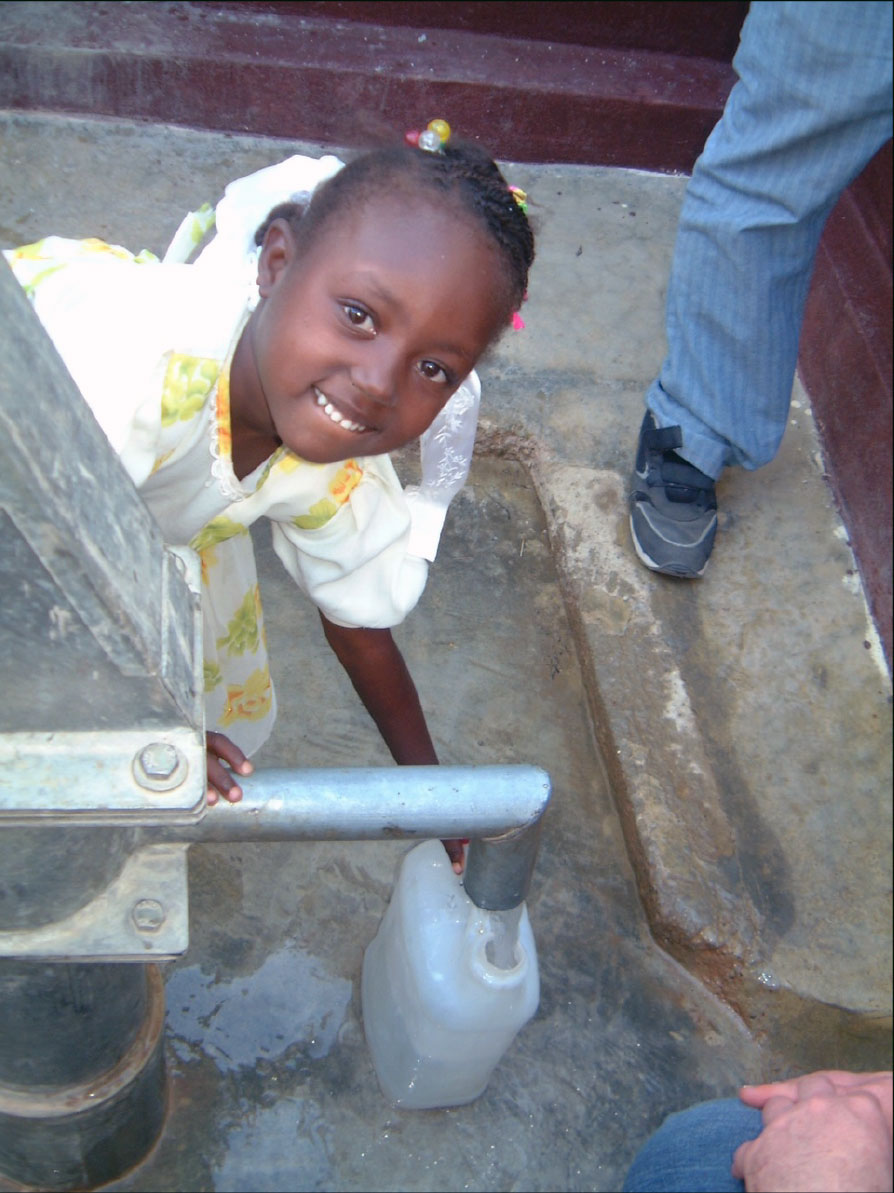 A young girl enjoys clean, fresh water