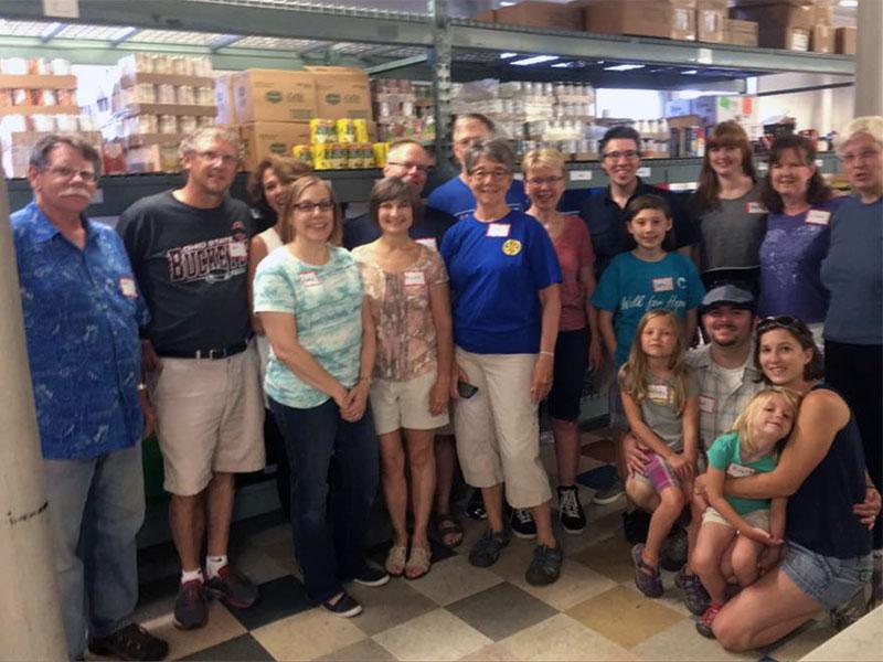 Volunteers at Community Emergency Service (CES) Food Shelf