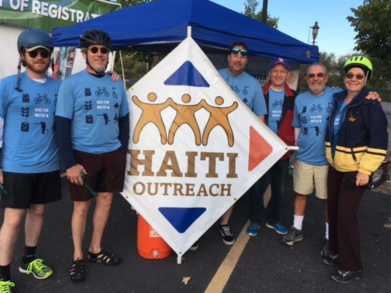Cyclers in the Haiti Outreach Ride for Water