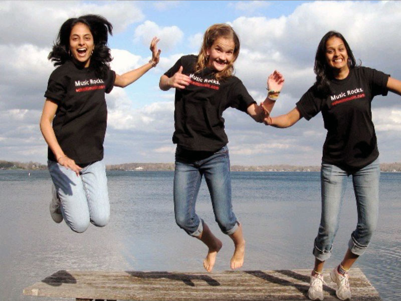 Students jumping for joy