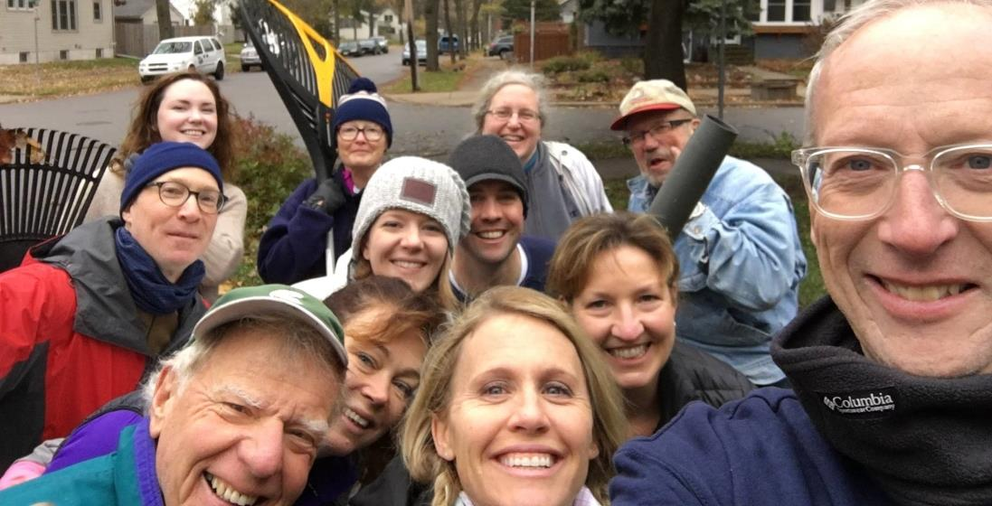 Rotarians together for a selfie.