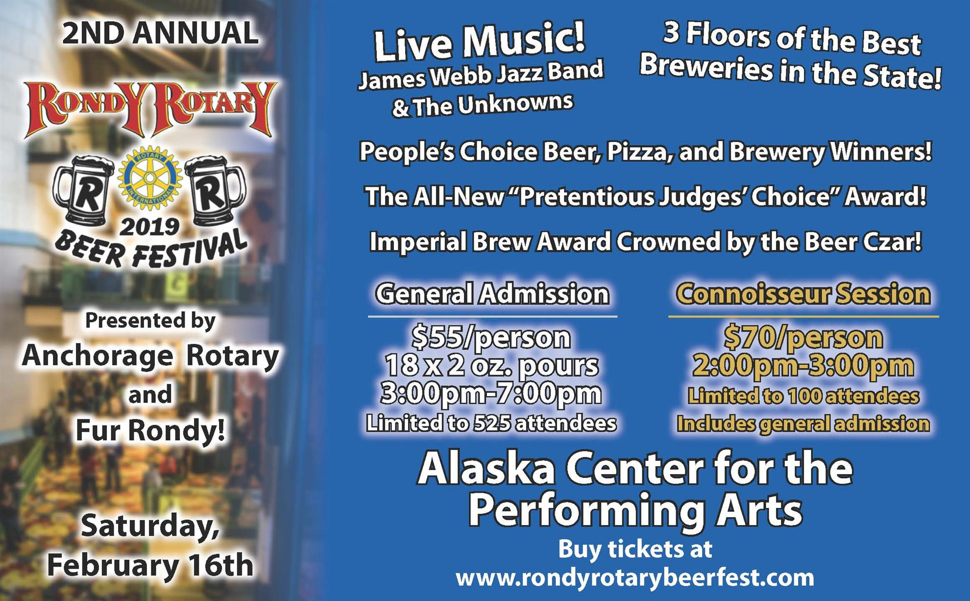 """5e2cb18187d0 Are you ready to Rondy? The Rotary Club of Anchorage East has been hard at  work for the past year planning the """"Rondy Rotary Beer Festival,"""" a  community ..."""