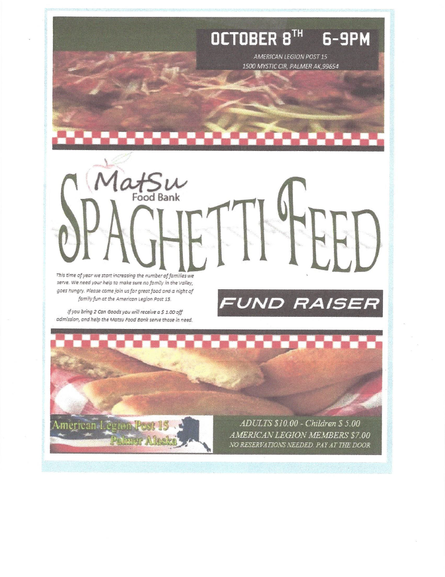 Spaghetti Feed Oct 8