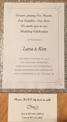 Lana and Ken wedding invite