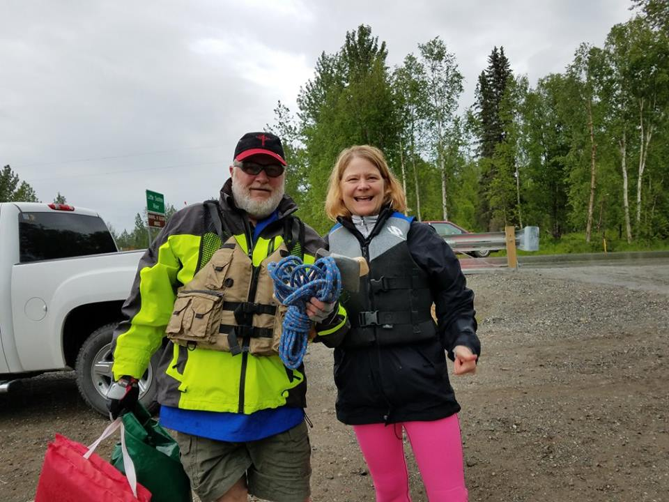 Rick Cavens at Little Su River Clean-up