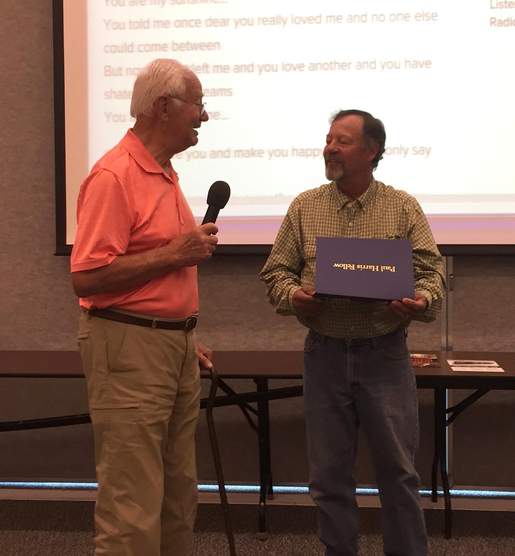 Paul Harris Fellow Award Winner Duke Jones