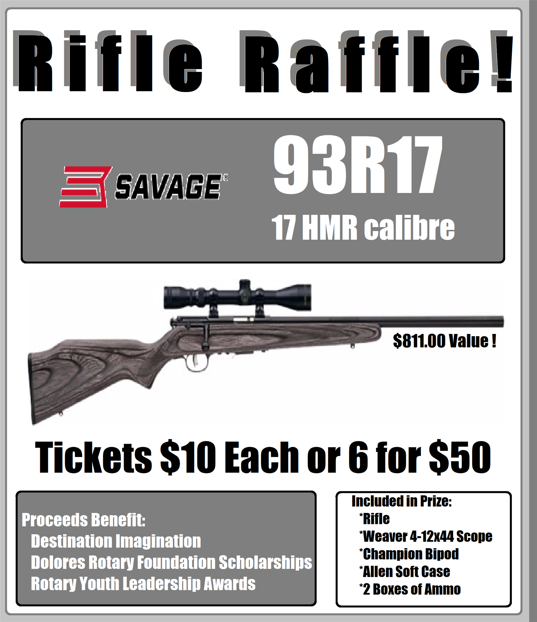 Rifle Raffle - Drawing in December