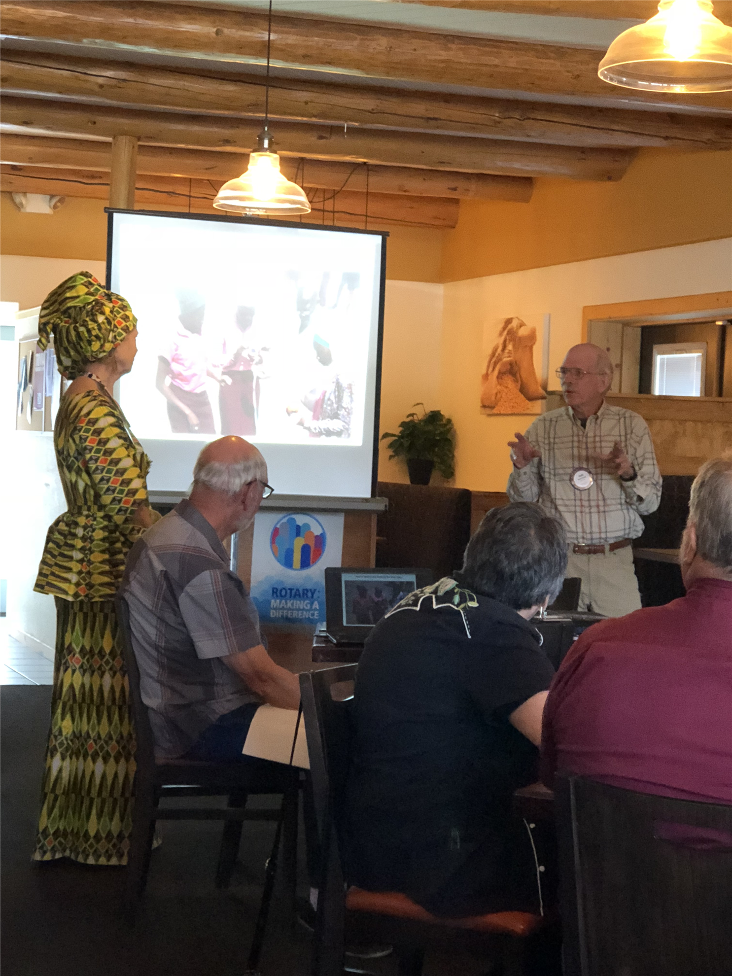 Stories rotary club of pagosa springs speakers rotarys david smith and kim vanna white moore our intrepid international voyageurs took the dais to regale the meeting with tales of their stopboris Images