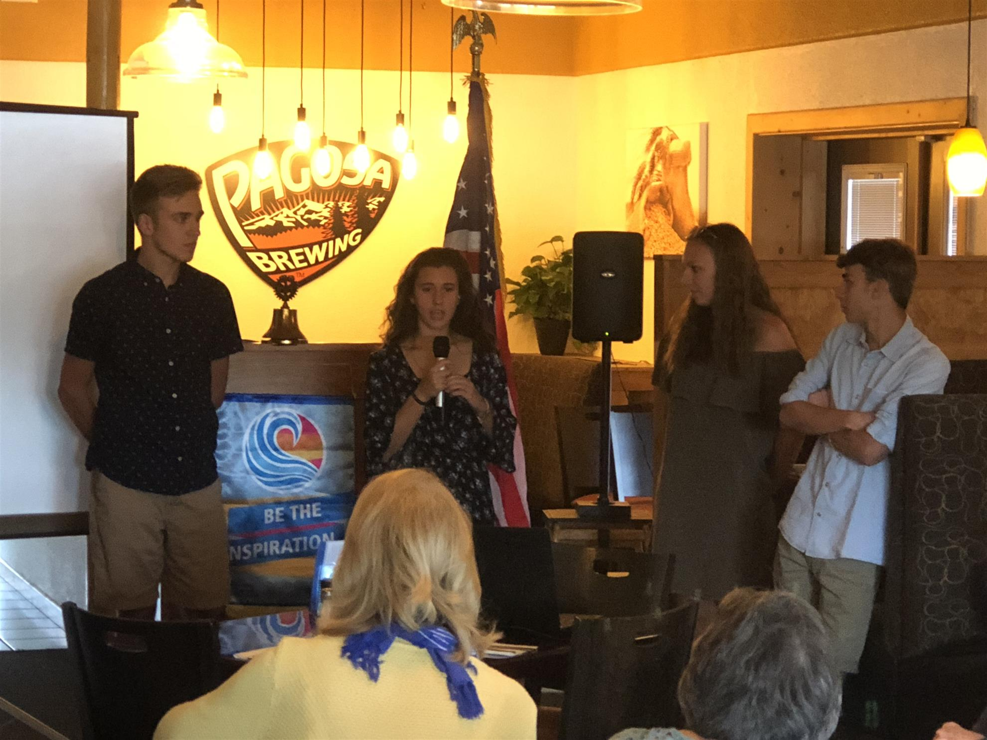 Stories Rotary Club Of Pagosa Springs Short Circuit39s Johnny Five On Auction Block Starting At 100000 Lisa Scott Introduced Some Very Special Guests The Pairs Students Participating Locally In Rotarys Term Summer Exchange Program
