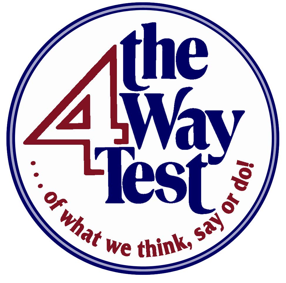 four way test essay The short-term goal is to have every club sponsor a four-way test essay contest in the eighth grade of every public and private school in their geographical area if every eighth grader in our district prepared a four-way test essay, soon every high school student in our district would know about rotary.