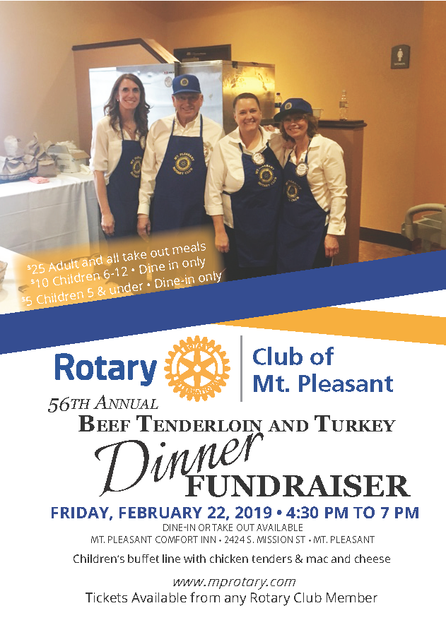 2019 Rotary Dinner Flyer