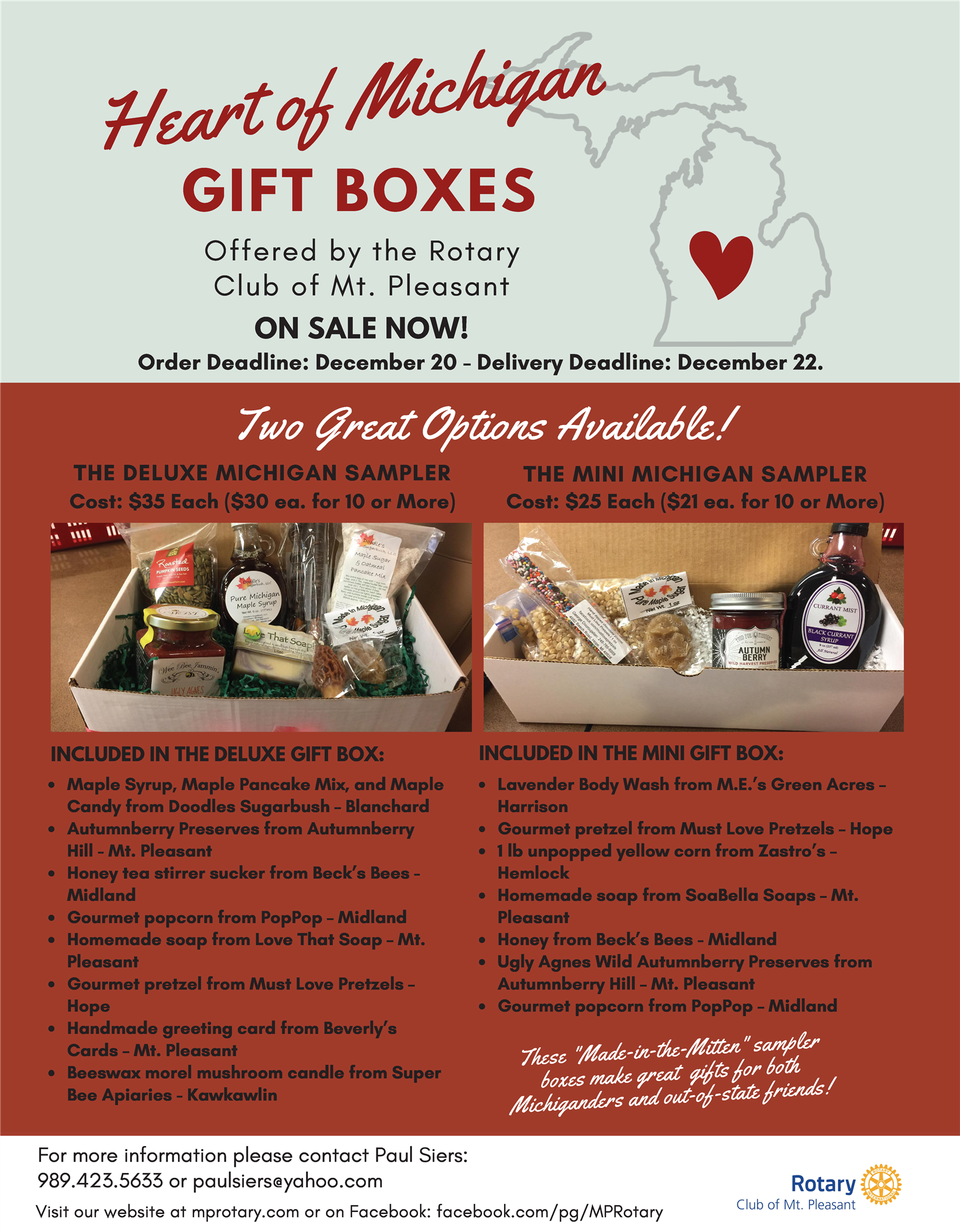 Heart of Michigan Gift Boxes