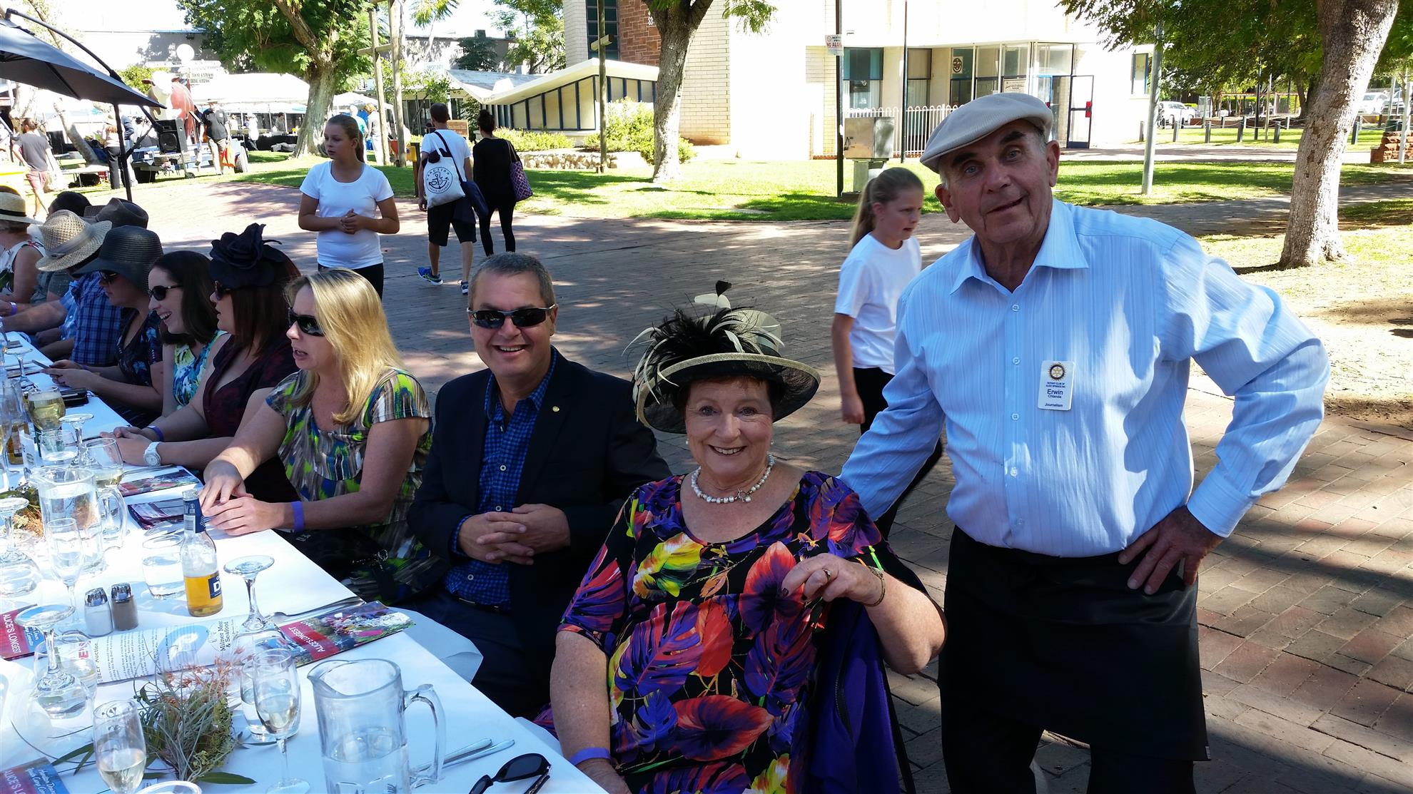Rotarians at lunch