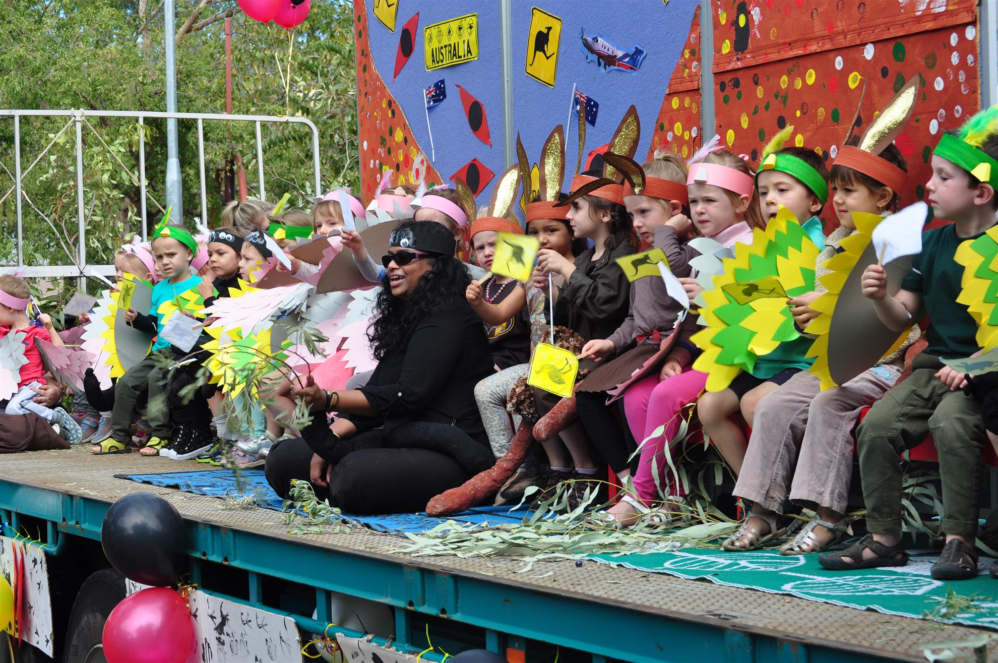 Colourful float
