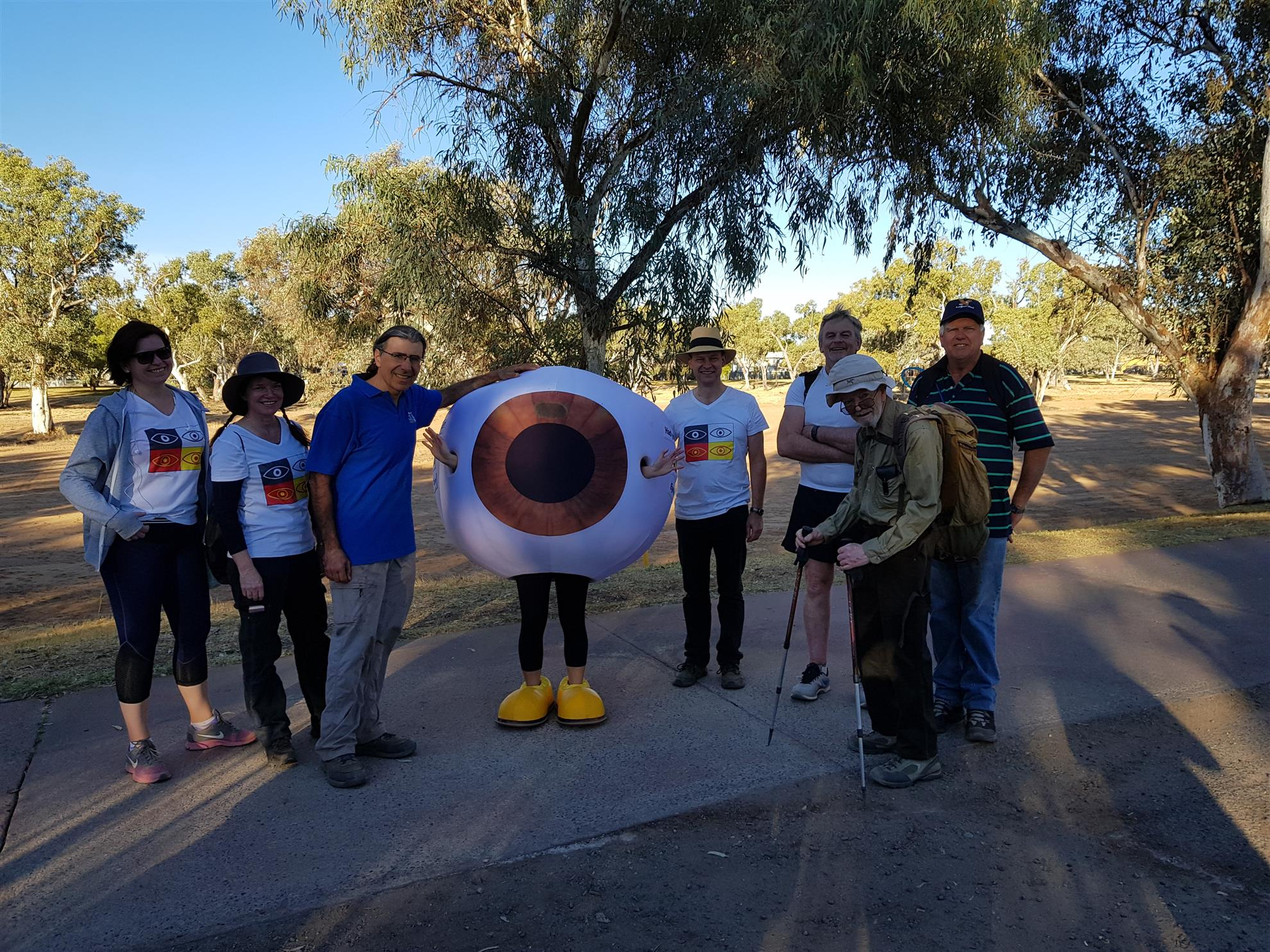 Henley-On-Todd Desert Trail walk for eye health