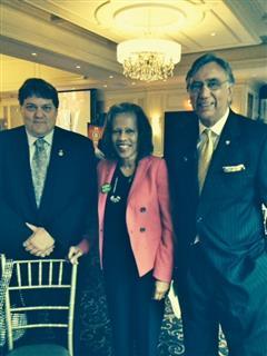 District Chief of Staff Jim Boyer, Englewood NJ President, Aleta Frezzell & PDG Raj Bhatia