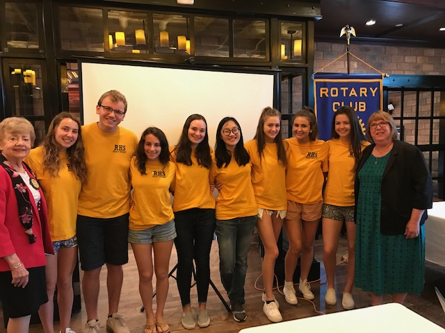 2019 Rotary Interact Members from Ridgewood High School
