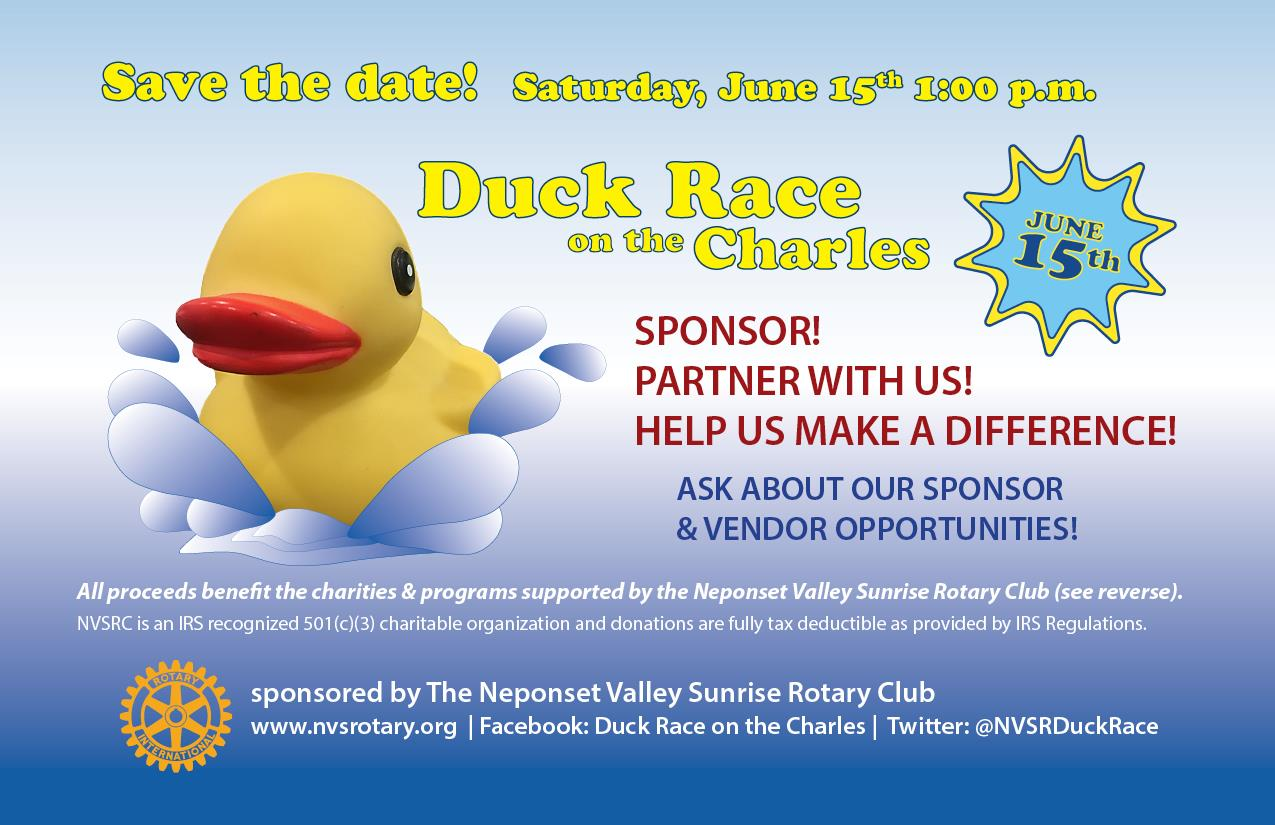 Duck Race 2019 Save the Date!