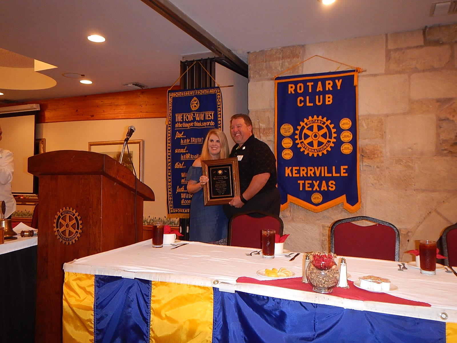 Cindy McNeely And Crystal Dockery Were Selected As Co Rotarians Of The  Year. Cindy Spearheaded The Pints For Polio Event Which Raised A  Significant Amount ...