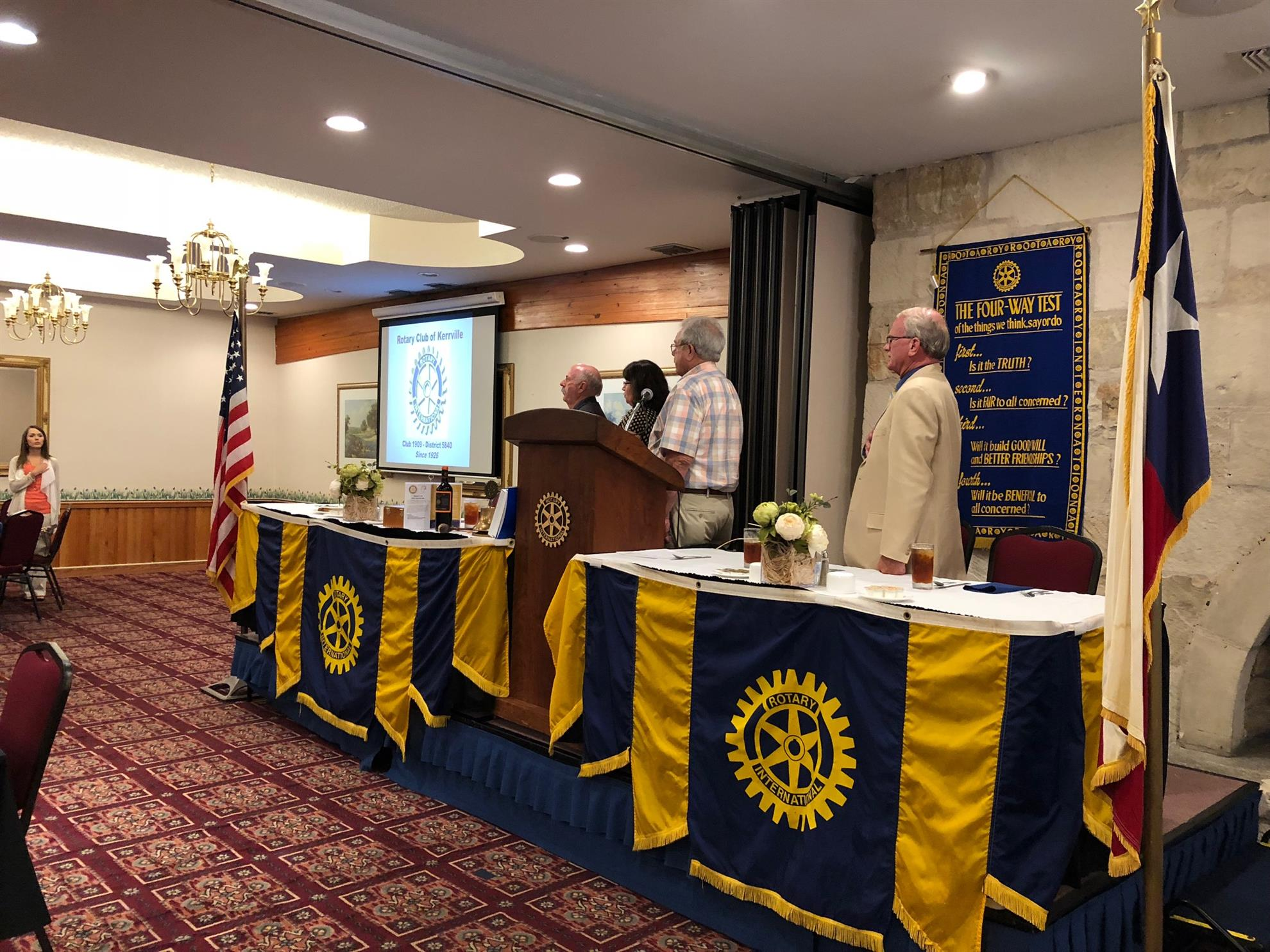 Stories Rotary Club Of Kerrville Paul Browne Two Ideas For Future Technology Integration In Stem Bill Crumrine Provided The Prayer And Pledge