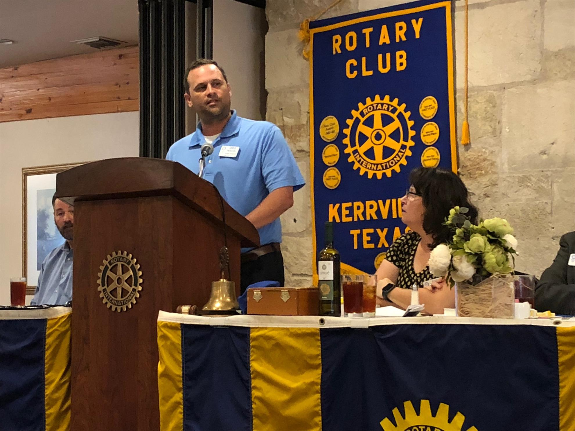 Stories Rotary Club Of Kerrville Just Mom Baju Menyusui Gea 115 Black Etnic Brown Greg Peschel Provided The Prayer And Pledge Also Introduced Our Program Speaker Bobby Templeton