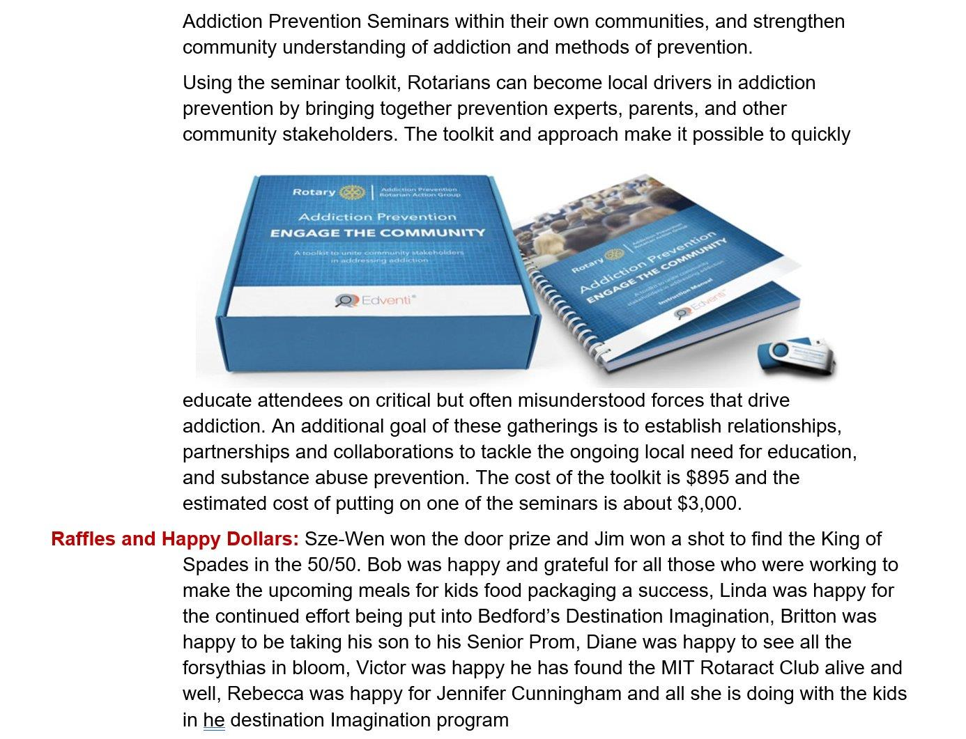2019 04-23-19 Club Bulletin (Apr 23, 2019