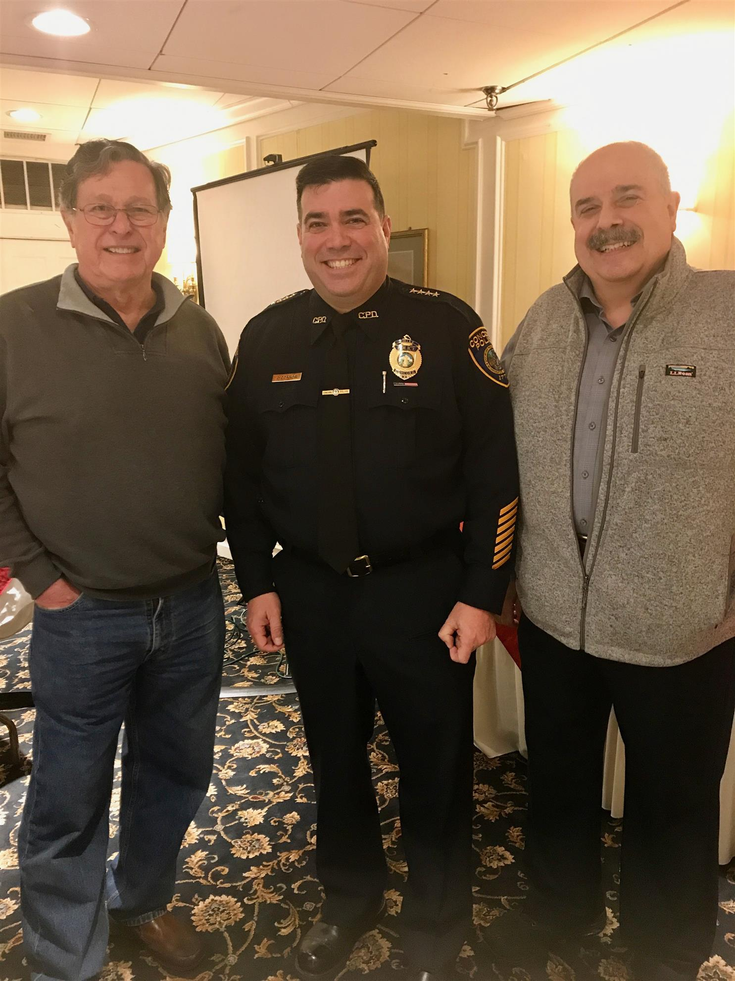 c9babbd8784 ... an outstanding Police Department ready to assist its residents with  skill and compassion. Photo  RC of Concord Pres. Henry Dane with Chief  O Connor