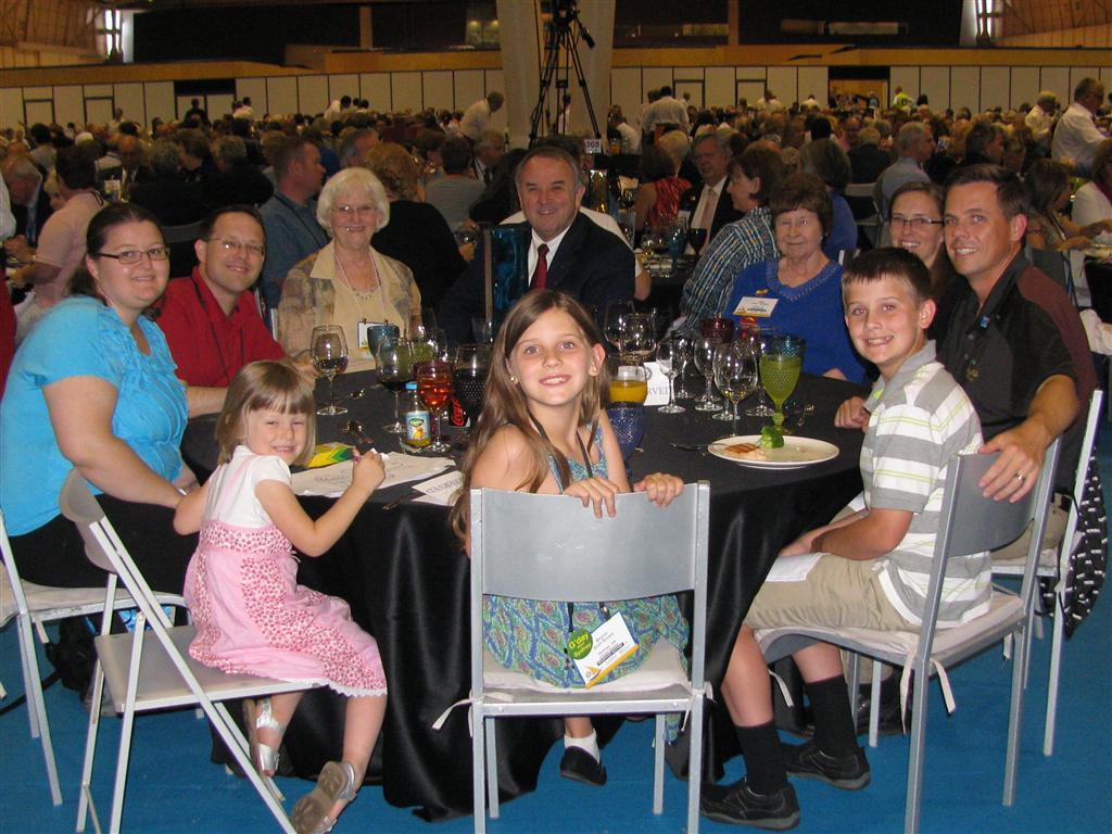 Ron Burton with Rotarians from Oklahoma