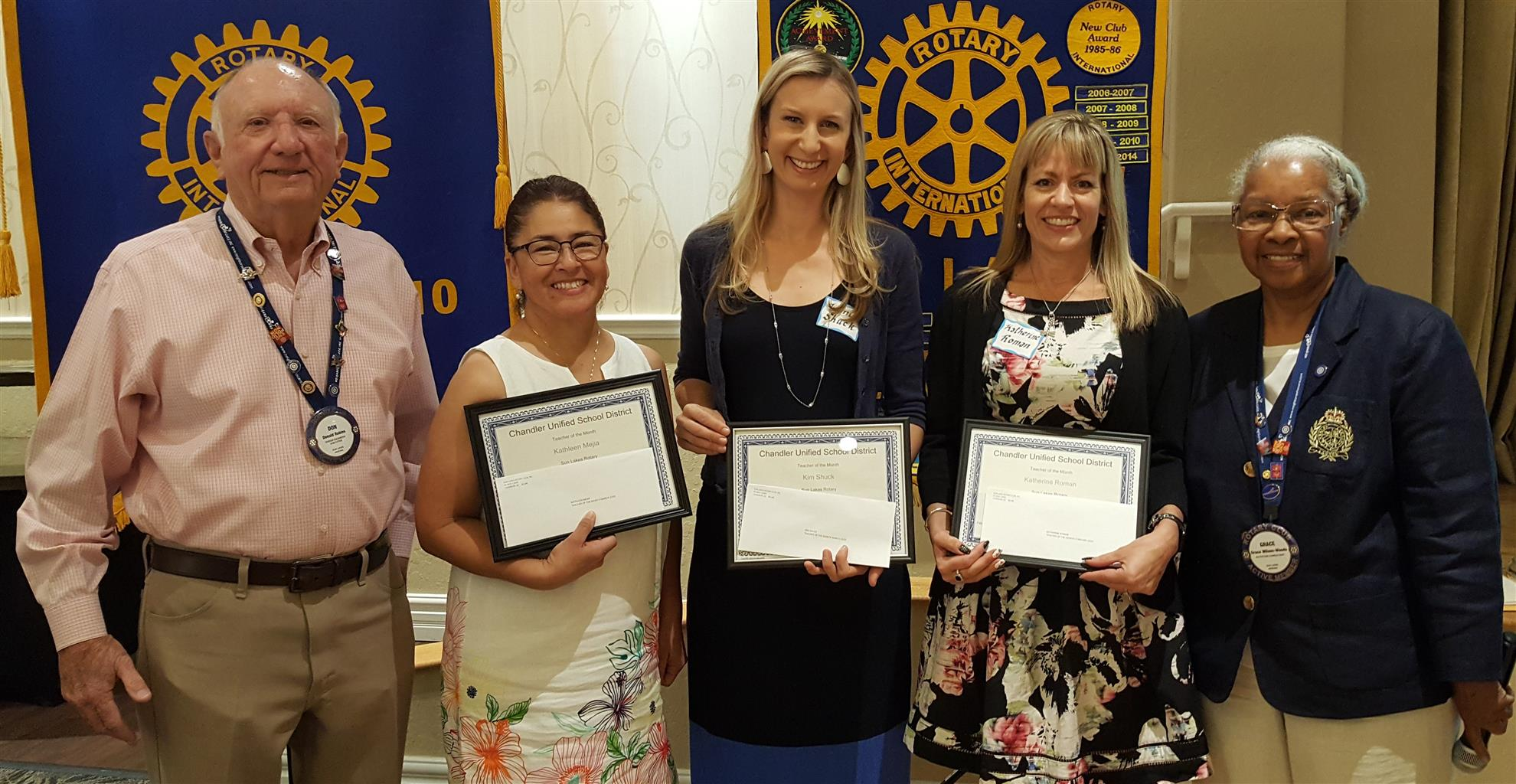 Sun Lakes Rotary Teacher of the Month