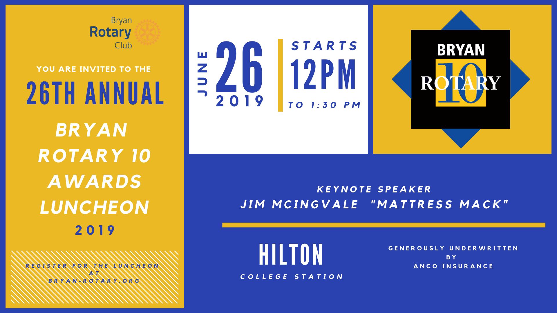 Rotary 10 Invitation