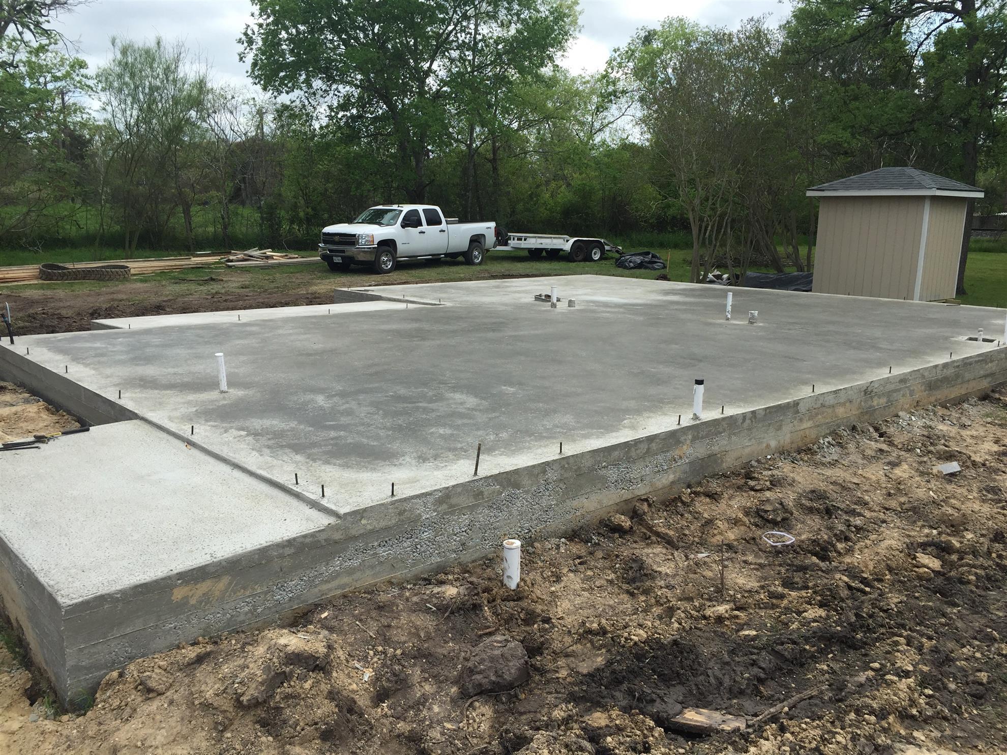 image of concrete slab made for Habitat House