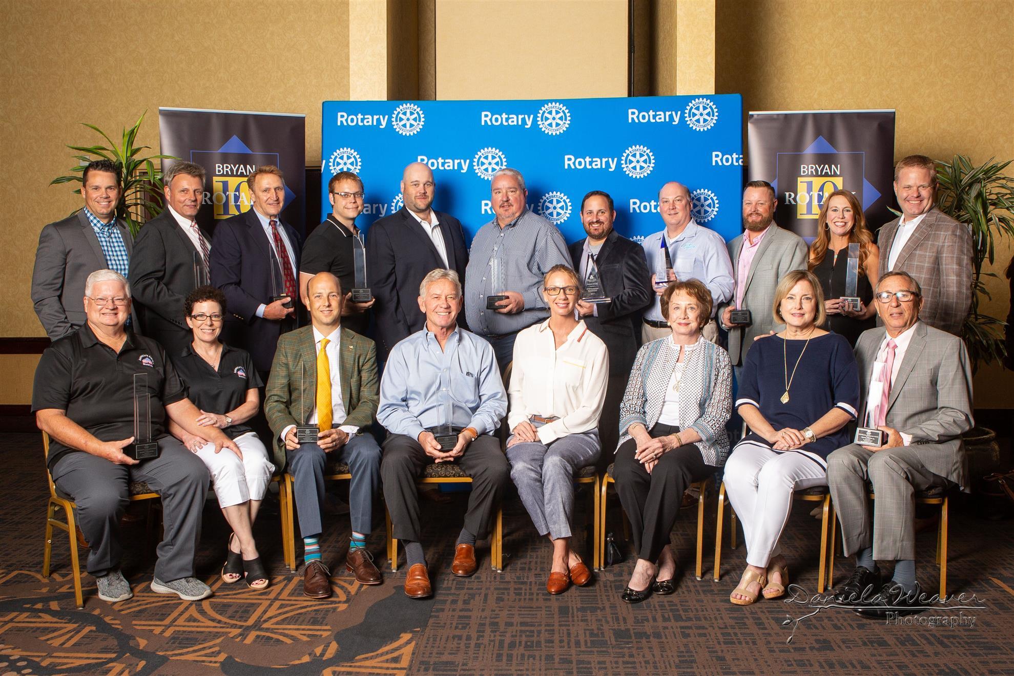 2019 Bryan Rotary 10 Winners Group