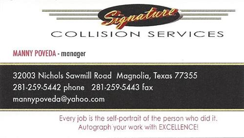 Signature Collision Services