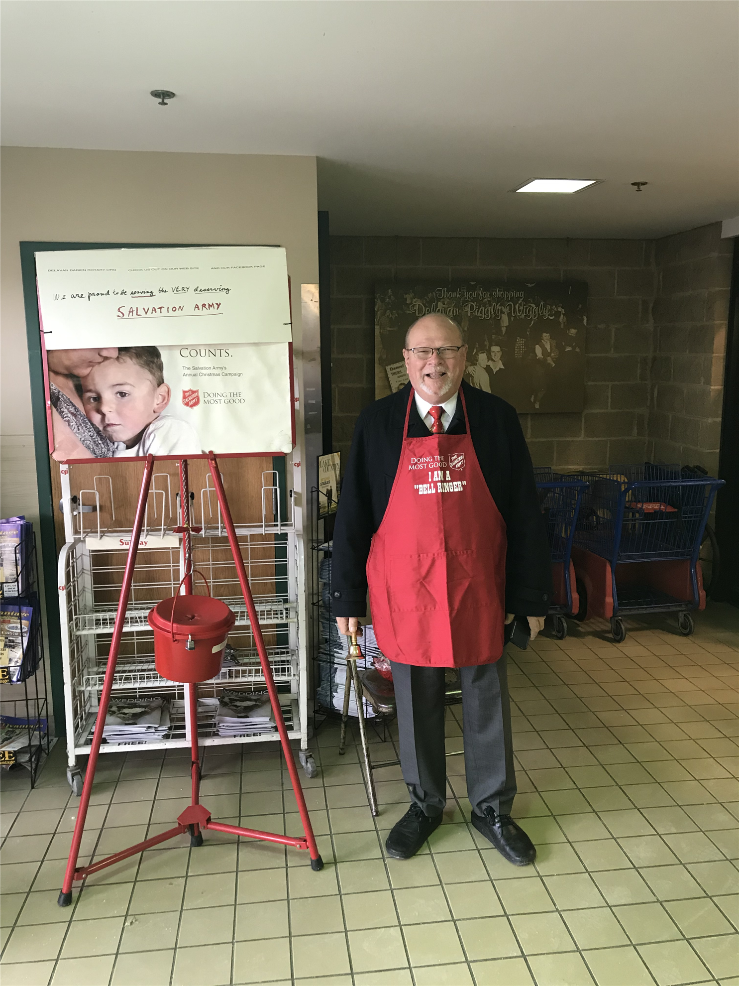ceaee644 Rotarians Kurt Zipp and Joe Mulder ringing the Salvation Army Bell at  Piggly Wiggly, November 16, 2018