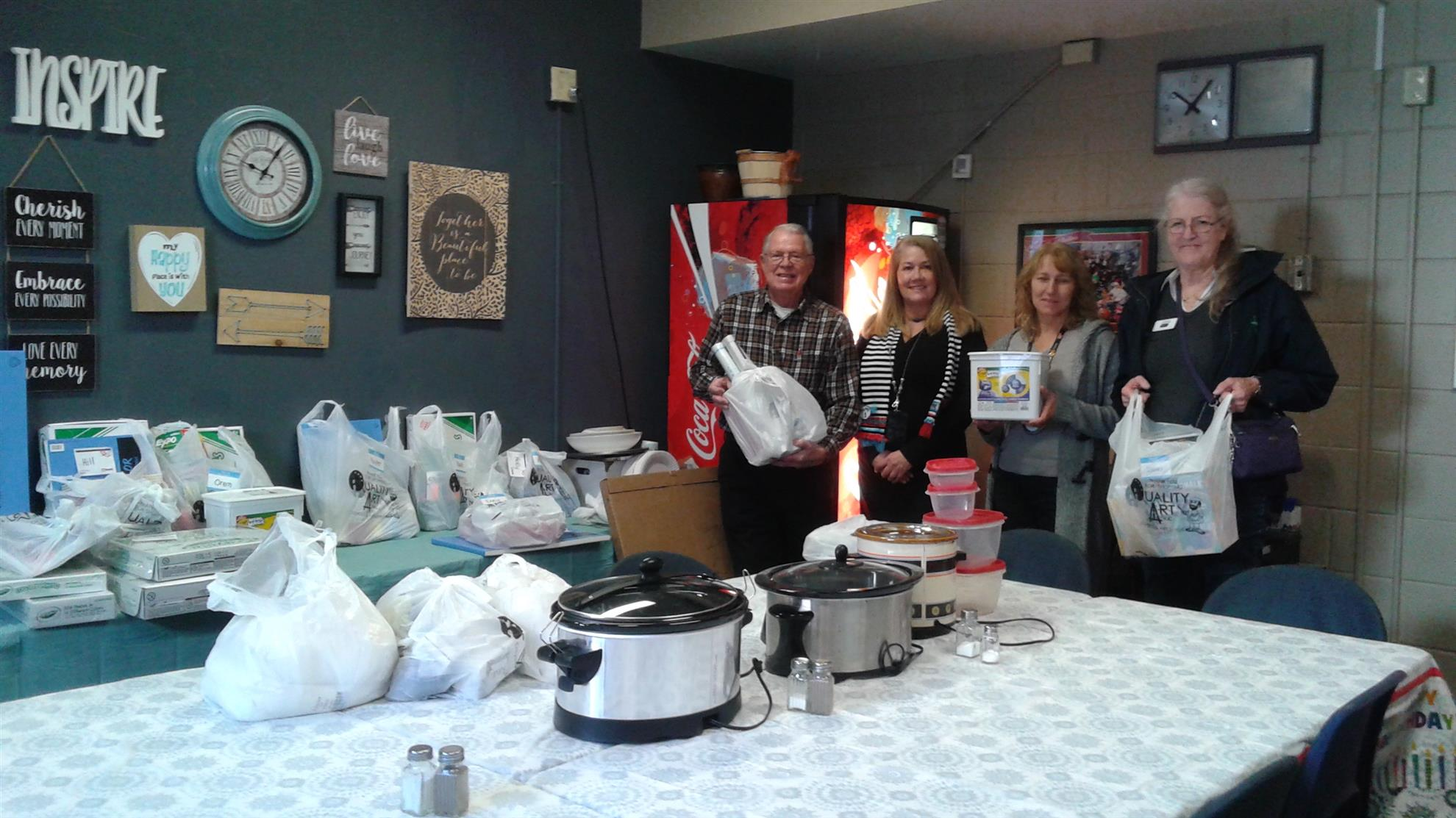 EGC members delivering art supplies to Pierce Park