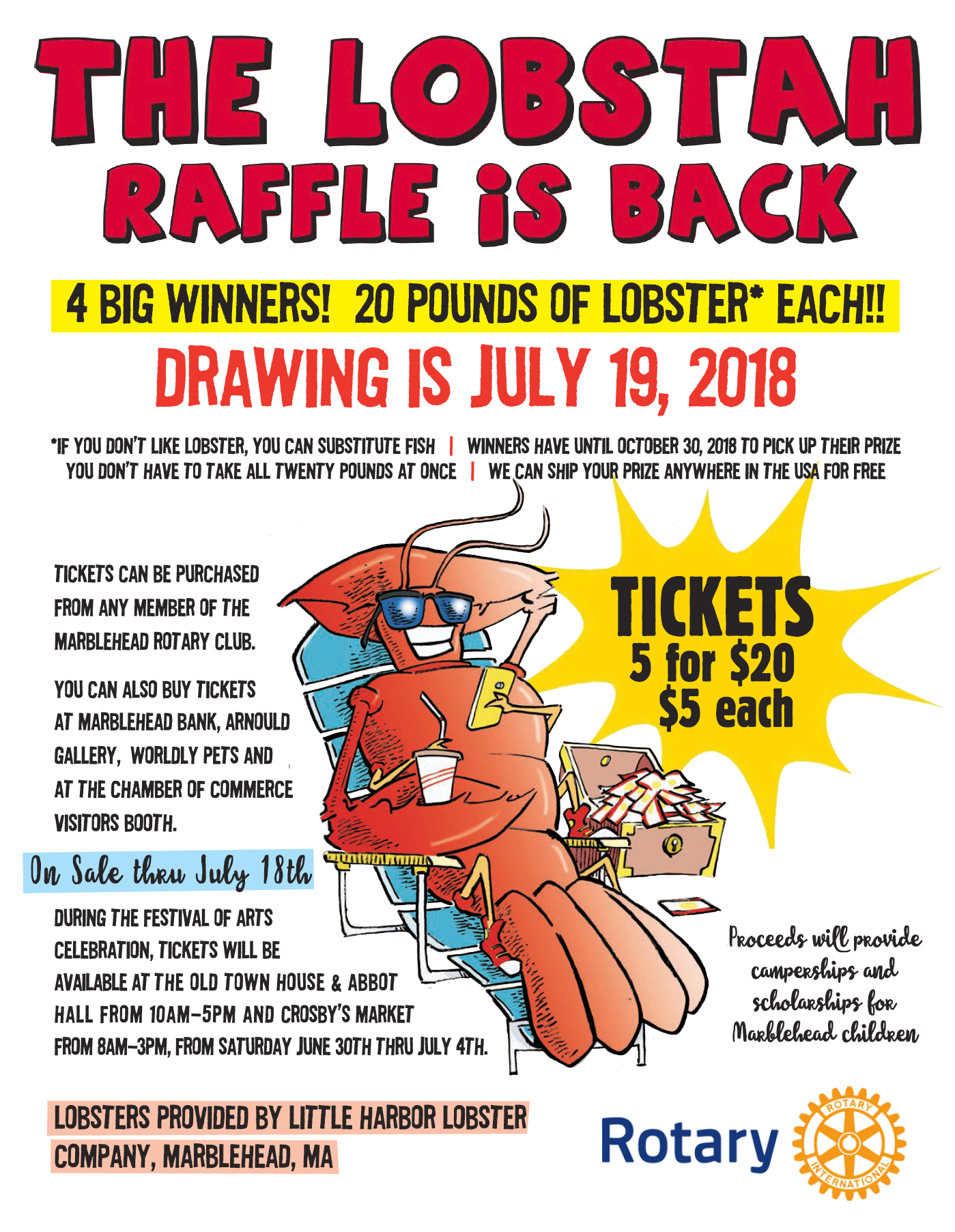 The Lobstah Raffle Is Back