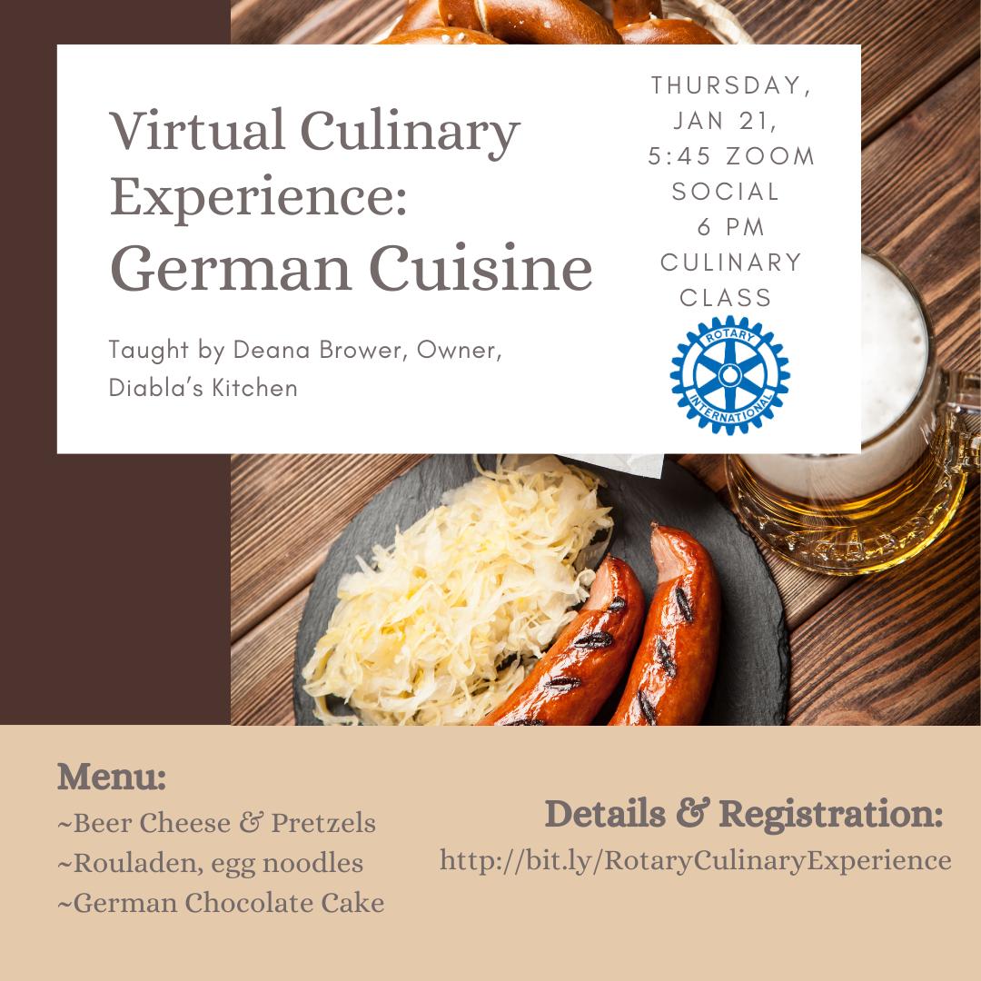 Virtual Culinary Experience: German Cuisine
