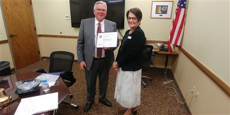 Paul Harris Fellow Award to Paula Johnson