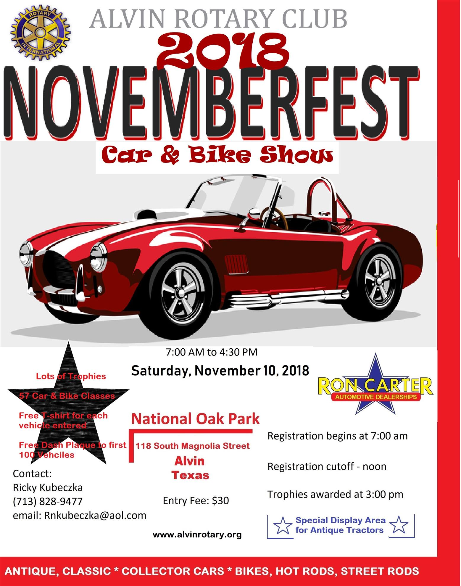 Novemberfest Rotary Club Of Alvin - Car show vendor ideas
