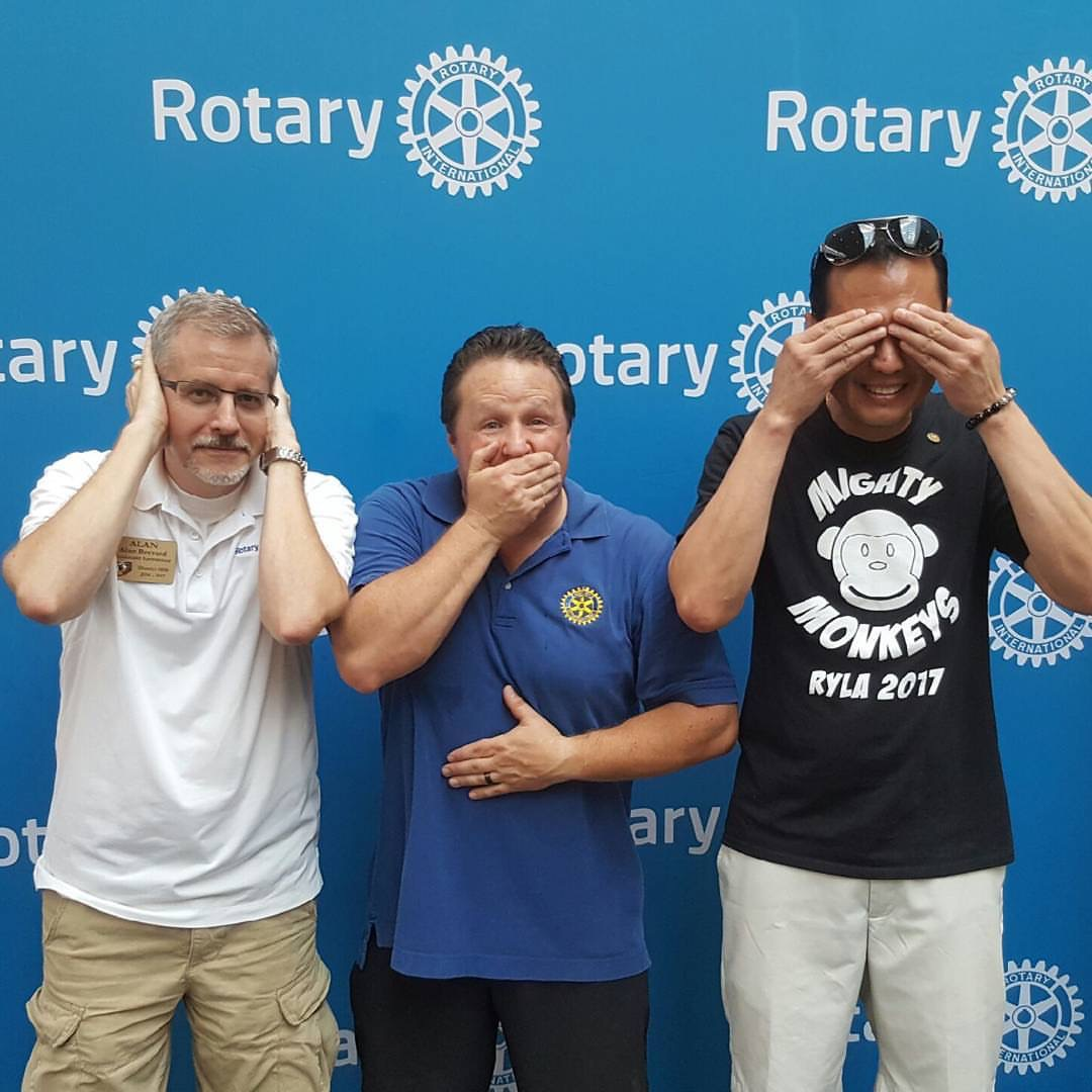 Johnny 5 No Disassemble Short Circuit Tshirt Stories Rotary Club Of Cypress Fairbanks Past President Alan Brevard Elect Wayne Beaumier And District Governor Eric Liu Carried Out The Monkey Business Theme Conference