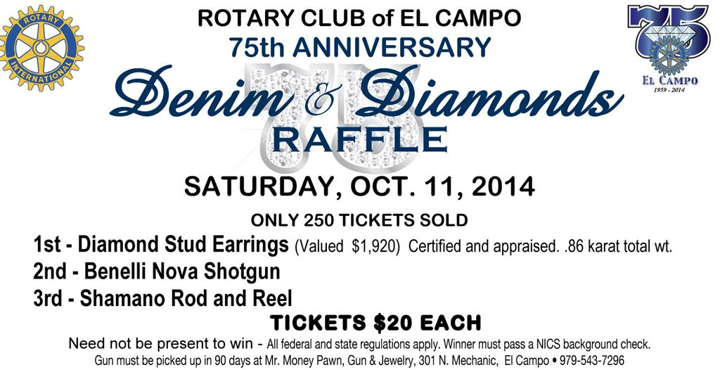 Denim and Diamond Raffle