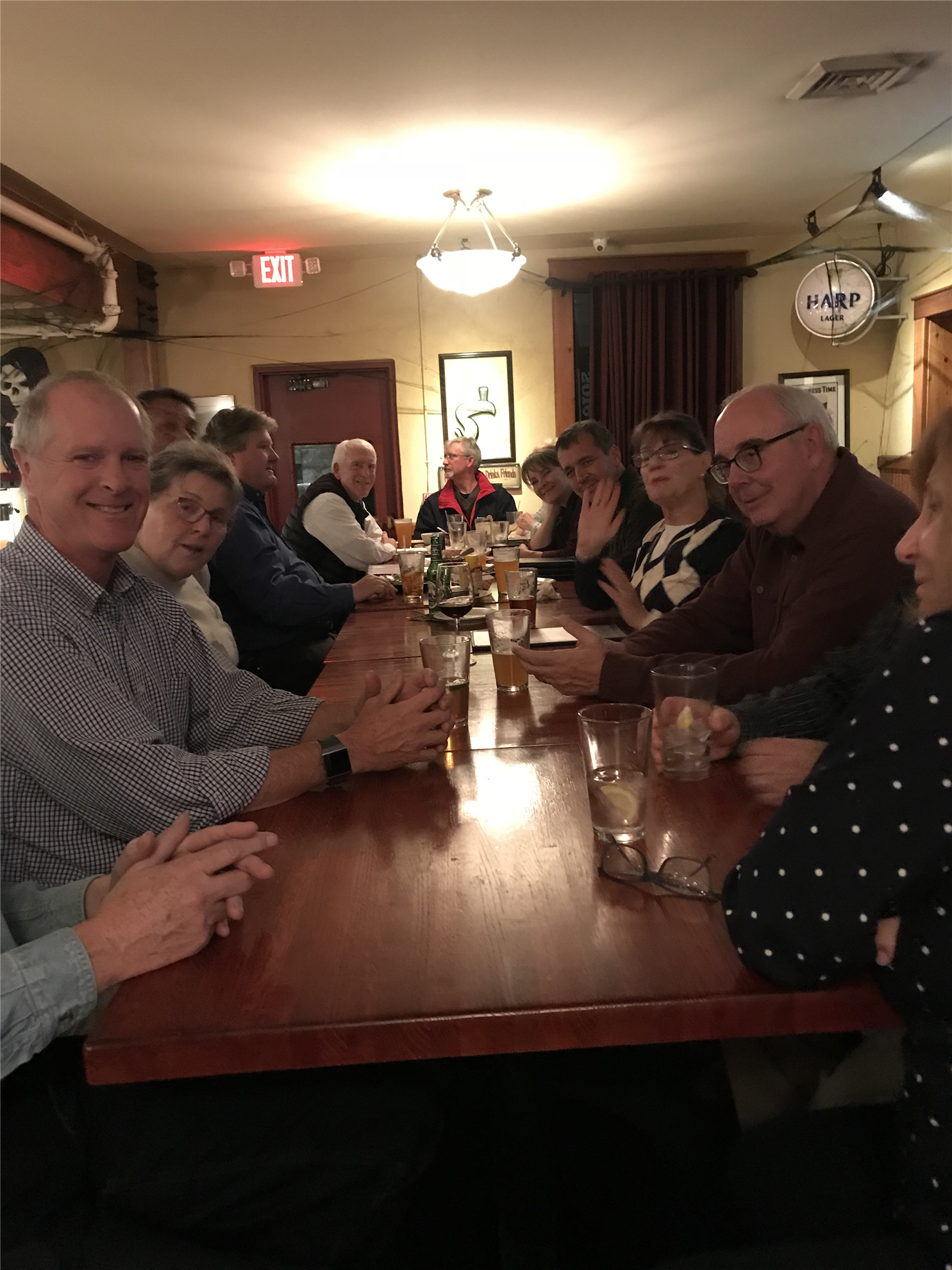 Rotarians gather for a social hour