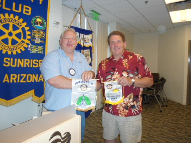 Glen Steiner and guest John Krumb from Gettysburg Club