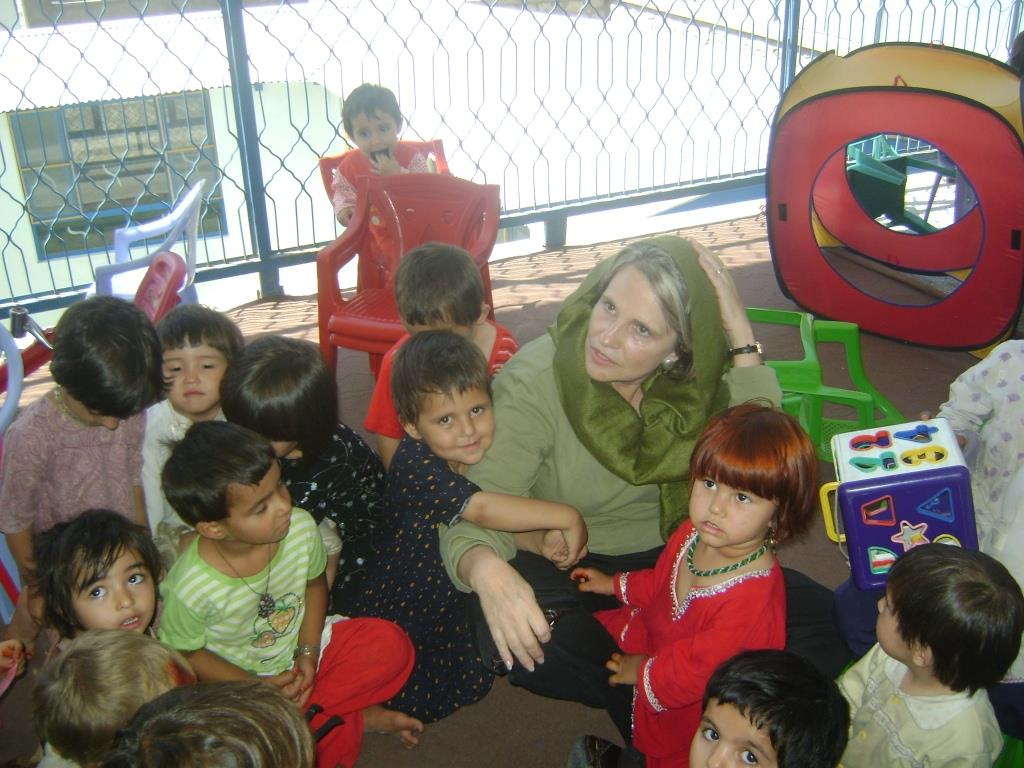 Afghanistan Kabul Women's Prison Diana with young children